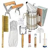 LTLR Beekeeping Honey Tools Starter Kit Set of 10 Hive Smoker...