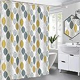 X-Labor Wasserabweisend Duschvorhang 240x200cm Dick Textil Stoff Anti-Schimmel inkl. 12 Duschvorhangringe Waschbar Badewannevorhang 240x200cm Muster-B