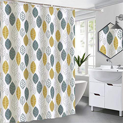 X-Labor - Cortina de ducha impermeable (240 x 200 cm, tela antimoho, incluye 12 anillas para cortina de ducha, lavable, 240 x 200 cm), diseño de B
