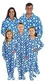 SleepytimePjs Blue Snowflake His and Hers Christmas Onesies