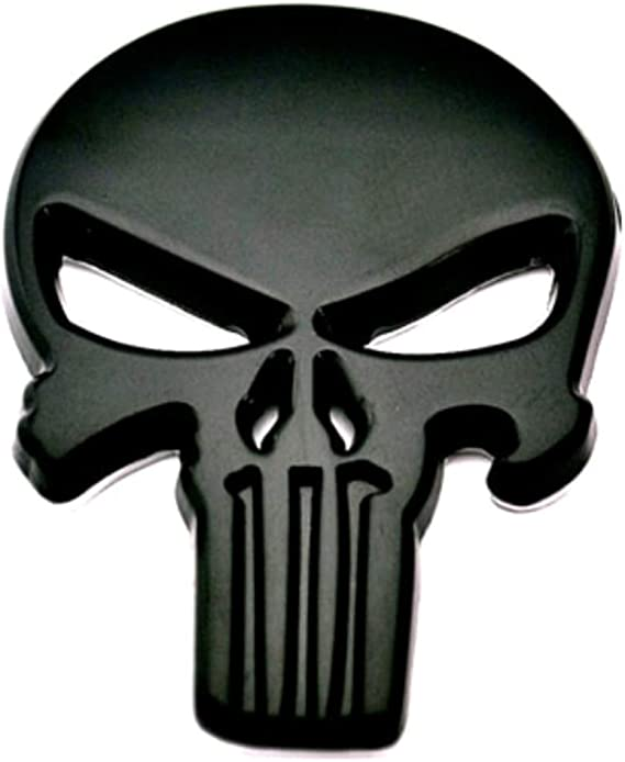 1 Piece Skull Skeleton Demon Gold Metal Hq 3D Badge Emblem Car Trunk Side Door Fender Auto Logo Adhesive 5232GD TOTUMY