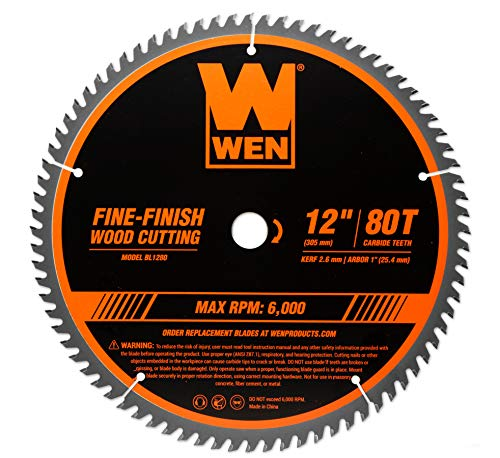 WEN BL1280 12-Inch 80-Tooth Saw Blade