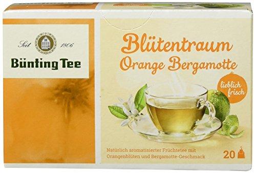 Bünting Tee Blütentraum Orange Bergamotte 20 x 2.5 g Beutel, 12er Pack (12 x 50 g)