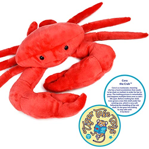 VIAHART Cora The Crab   18 Inch Stuffed Animal Plush Crustacean   by Tiger Tale Toys