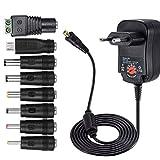 helpers lab 12 W Universal AC/DC Adaptador de conmutación regulado Fuente de alimentación con 8 seleccionables Adaptador Conectores,1000 mA MAX, 3-12 V hogar Electronics Dispositivo