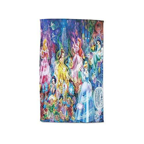 Hermosa toalla de baño de microfibra de princesa, extra grande, 80 x 130 cm, para natación, spa, viajes, yoga, deportes, camping, tumbonas o ducha