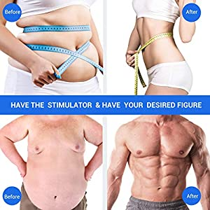 Muscle Toner Abs Stimulator, Portable Muscle Trainer, Rechargeable Abdominal Toning Belt Ultimate Muscle Toner for Men Women, Work Out Power Fitness ABS Abdominal Trainer with 6 Modes & 9 Levels