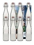 hocz 6er Set Bügelflaschen Bügelflasche Glasflaschen 500ml Typ A mit Bügelverschluss zum...