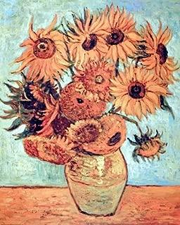 Sunflowers Wall Decor Vincent Van Gogh Vase Floral Flower Art Print Poster (16x20)