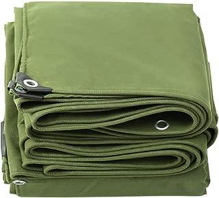 KSWD Cover Tarp Fireproof, Tarpaulin Waterproof - Tarp Sheet 650g/Square Metre Thicker Tear Proof Canvas, Military Green,3x4m