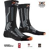 X-Socks Moto Extreme Light Socks, Opal Black/Dolomite Grey Melange, 45-47