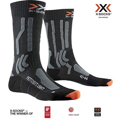 X-Socks Socks Moto Extreme Light, Opal Black/Dolomite Grey Melange, 45-47, XS-MS02S19U-B010-45/47