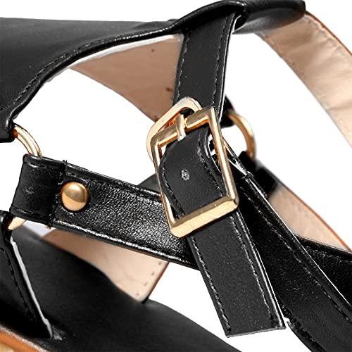 riou Sandalias Mujer Verano 2021 de Gladiador de Cristal Roma Zapatos,Zapato Casuales para Mujer, Sandalias de Básico, Elegantes Sandalias Mujer para Playa