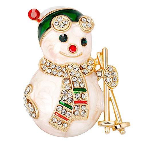 harayaa Adorable Navidad Broche Señora Navidad Muñeco de Nieve Broche Pin Solapa Decoración Navidad