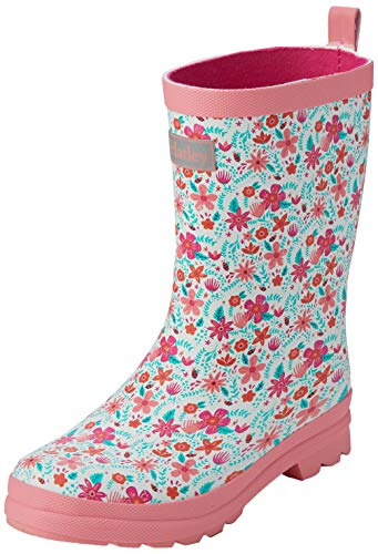 Hatley Mädchen Printed Wellington Rain Boots Gummistiefel, Weiß (Summer Garden 100), 31 EU
