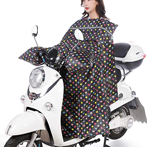 KKmoon Cubrepiernas Moto Mantas Térmicas, Cubre Piernas para Motos, Manta Impermeable Terciopelo para Scooter-multicolor