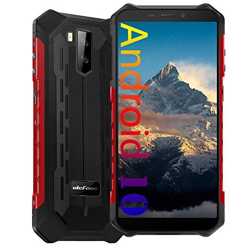 4G Rugged Phones Unlocked, Ulefone Armor X5 Pro (2021) 4GB + 64GB IP68 Rugged Smartphones, Android 10 Octa-core, 13MP+2MP Dual Rear Camera 5.5 inch HD+ Screen 5000mAh,OTG, NFC, Face ID, GPS, WIFI -Red