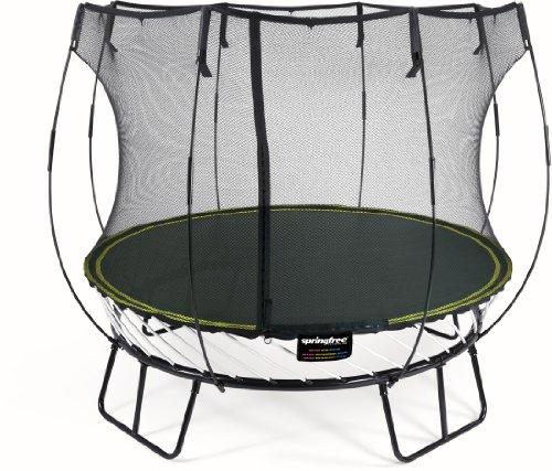 Springfree Trampolin R54 - Compact Round Ø 250 cm Reine Sprungfläche (entspricht Durchmesser 310 cm) inkl. Netz