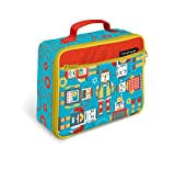 Crocodile Creek Eco Kids Robots Insulated Lunch Box with Handle, 9.5&Quot