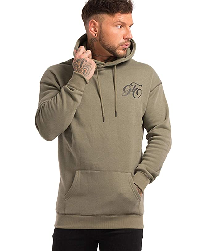 GINGTTO Mens Hoodies Pullover Casual Solid Color Hooded Sweathirts