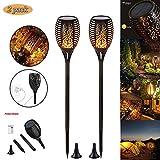 Xindaxin Lampada solare da giardino, torce a energia solare con ricarica USB & impermeabil...