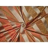 Seide Taft Stoff gold & Orange Farbe mit Satin Streifen