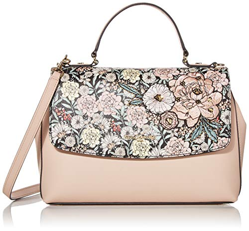 KARL LAGERFELD Paris Tina Handtasche mit Tragegriff, Blumenmuster, Rosa