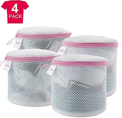 GOGOODA Bra Wash Bag,4PCS Mesh Laundry Bags for Bras/Underwears/Socks