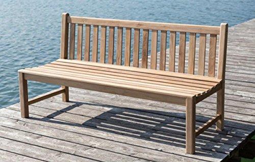 LINDER Stabile Bank Gartenbank Picadelly 180 cm in Premium Teak ohne Armlehne