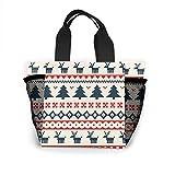 ハッピークリスマス トートバッグ レディース ハンドバッグ おしゃれ 買い物バッグ 個性 エコバッグ スポーツトートバッグ 人気 マザーバッグ ランチバッグ