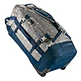 Eagle Creek Cargo Hauler Wheeled Duffel, foldable travel bag with wheels, large duffle bag, abrasion & water resistant TPU fabric, backpack straps, gray (Cali Hiero), 110 L.
