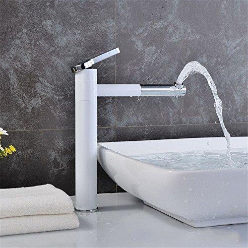 Grifo mezclador para lavabo, WATER TOWER moderno con cuerpo de latón, pintura de latón, grifo de lavabo, de porcelana de alta temperatura y alta temperatura, grifo antioxidación