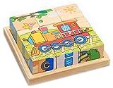 Black Temptation Cubo Puzzle de Madera para los niños con una Bandeja de Madera 6 Puzzles en 1 Conjunto (9 Piezas) # 4