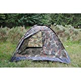 TENTE ' IGLOO STANDARD ' ETANCHE 2 PLACES CAMOUFLAGE WOODLAND