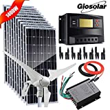 Wind Solar Power Off Grid 12V 24V Batteria Kit di ricarica per Casa Garage Giardino Farm F...