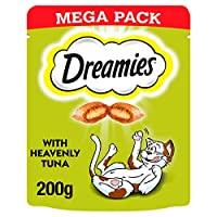 These dual textured cat treats are morsels of cat food, with a crunch and flavour that is irresistible to cats Free from artificial flavours For adult cats feed up to 20 pieces per day For kittens feed up to 6 pieces per day Dreamies cat biscuits con...