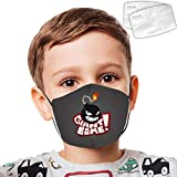 Giant-bomb Kids Mouth Mask,Face Cover Adjustable Double Layer Dust Cover With 2 Replaceable Parts