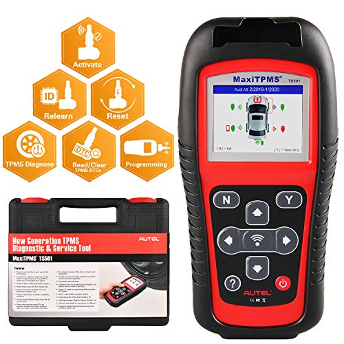 Autel MaxiTPMS TS501 TPMS Relearn Tool 2021 Newest, Activate/Relearn All Brand Sensors & Program MX-Sersors (315/433MHz), Key Fob Testing, Upgraded Version of TS408
