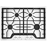 Frigidaire Gallery 30 Inch Gas, 4-Burner White Range with Liquid Propane Conversion Kit, FGGC3045QW Cooktop
