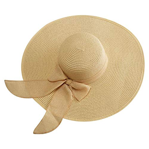 TYMDM zonnehoed, dames, strohoed, kleur snoepjes, zacht, extra breed, voor emmer, opvouwbaar, UV-bescherming