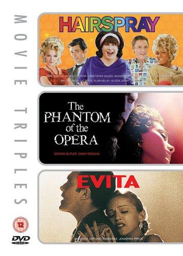 Hairspray/Evita/The Phantom Of The Opera [3 DVDs] [UK Import]
