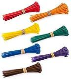 Bridas de Cable Multicolor 100 x 2,5 mm, 100 Unidades (Rojo, Naranja, Amarillo, Verde, Azul, Morado, marrón), Paquete de 700