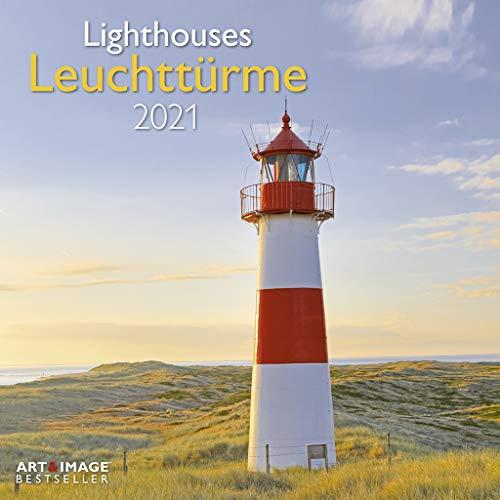 Leuchttürme 2021 - Wand-Kalender - Broschüren-Kalender - A&I - 30x30 - 30x60 geöffnet: Lighthouses