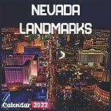 Nevada Landmarks Calendar 2022: Official Nevada Calendar 2022, 18 Month Photo of Nevada Travel calendar 2022, Mini Calendar