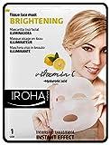 Iroha Gesichtsintensivmaske mit Vitamin C und Hyaluronsäure, 3er Pack (3 x 1 Stück)