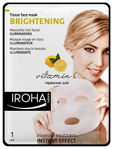 Iroha gezichtsintensief masker met vitamine C en hyaluronzuur, verpakking van 3 stuks (3 x 1 stuks)