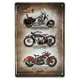 NOT Indian Motorcycle Metal Wall Sign Tin Warning Hanging Signs Vintage Plaque Art Poster Painting Celebrity Yard Garden Door Bar Cafe Easter