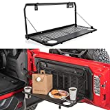Tailgate Table Rear Foldable Back Rear Door Table Storage Cargo Shelf Rack Carrier Compatible for J-eep Wrangler JL 2/4 Doors