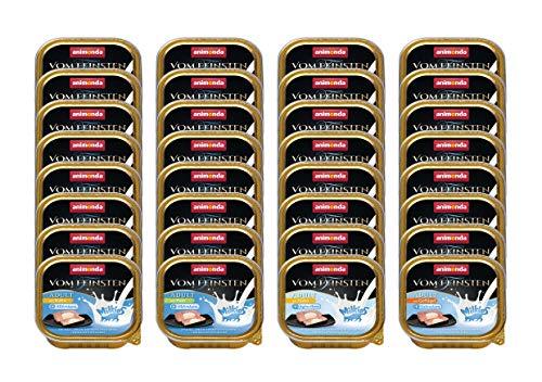 animonda Vom Feinsten Adult Katzenfutter, Nassfutter für ausgewachsene Katzen, Feinschmecker Milchkern-Variation, 32 x 100 g