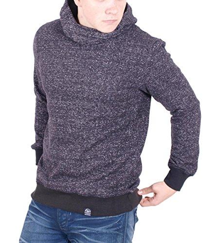 Hailys Kapuzen-Pullover Baumwolle Sweatshirt Hoodie Troyer für Herren in Schwarz, Größe:XL